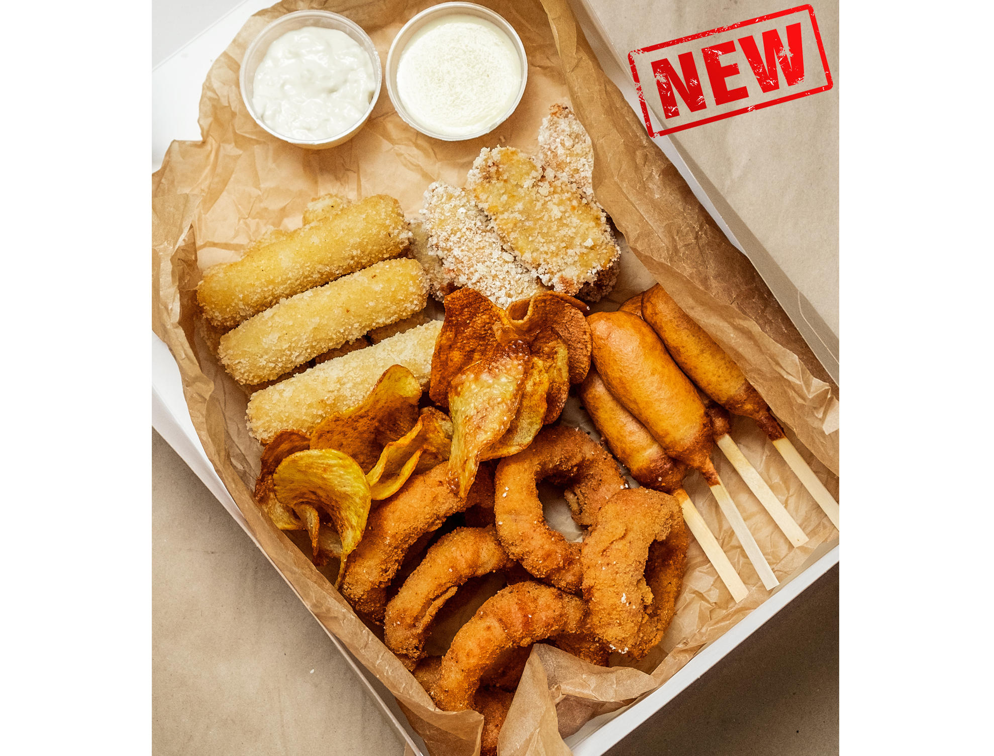 Snacks fries food box